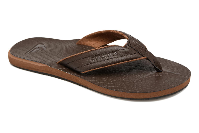 Flip flops & klipklapper Quiksilver Carver Nubuck Brun detaljeret billede af skoene