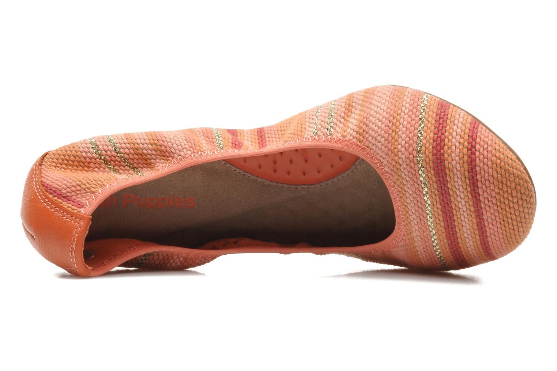 Chaste Ballet Coral stripe woven