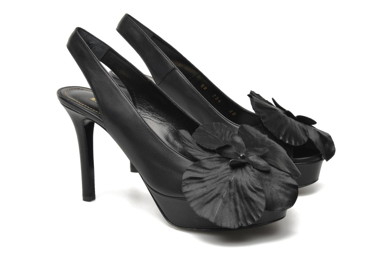 Sandales et nu-pieds Sonia Rykiel Fleur Noir vue 3/4