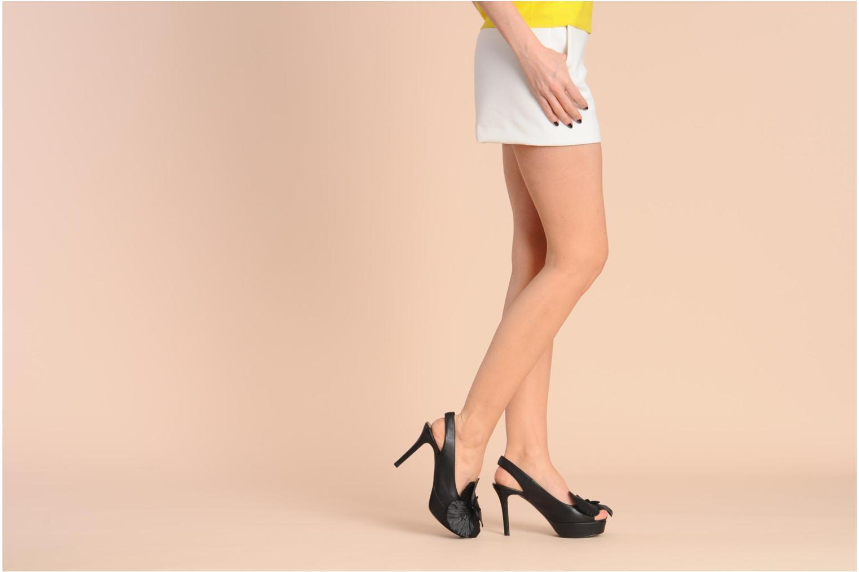 Sandales et nu-pieds Sonia Rykiel Fleur Noir vue bas / vue portée sac