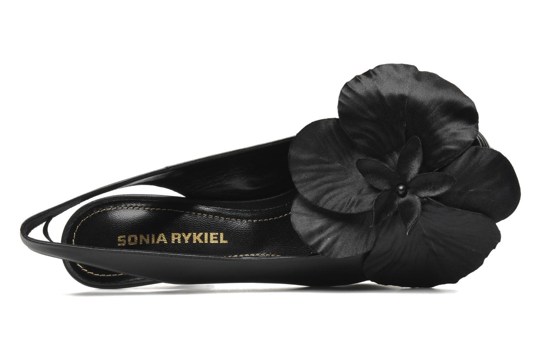 Sandales et nu-pieds Sonia Rykiel Fleur Noir vue gauche
