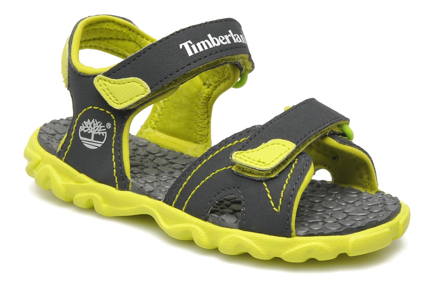 Splashtown 2 Strap Sandal Dark Grey with Green