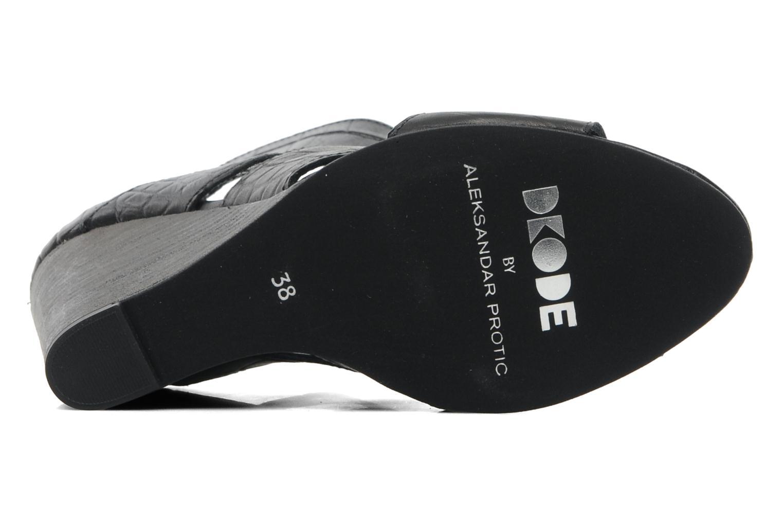 Sandales et nu-pieds Dkode Thetis Noir vue haut