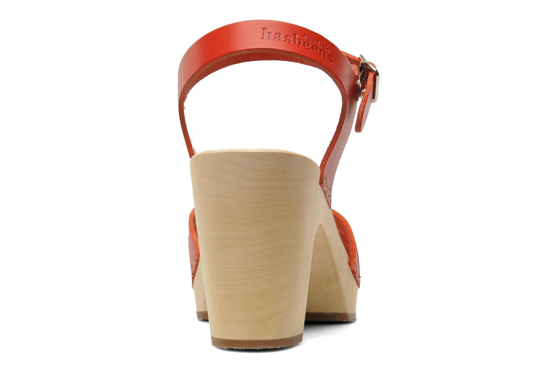 Sandales et nu-pieds Swedish Hasbeens Fredrica Rouge vue droite
