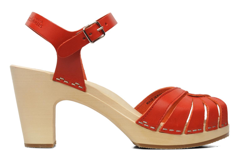 Sandales et nu-pieds Swedish Hasbeens Fredrica Rouge vue derrière
