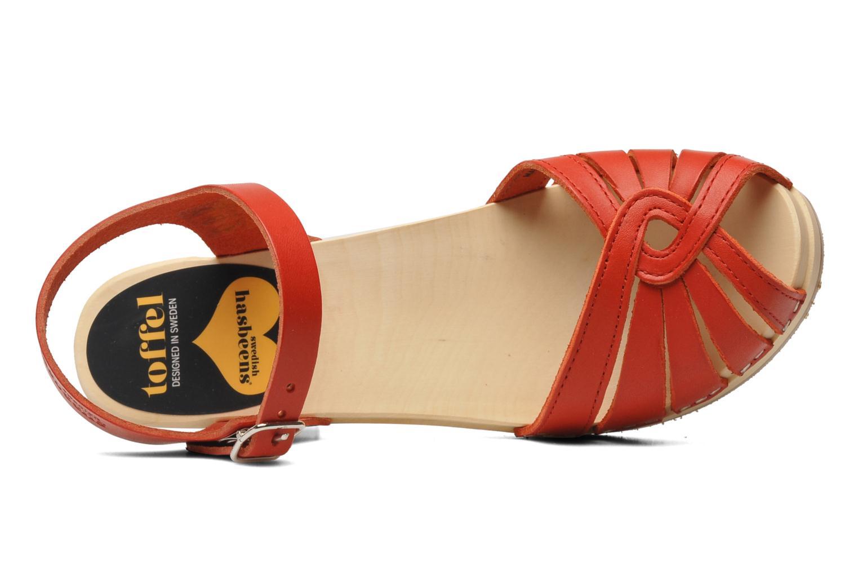 Sandales et nu-pieds Swedish Hasbeens Fredrica Rouge vue gauche