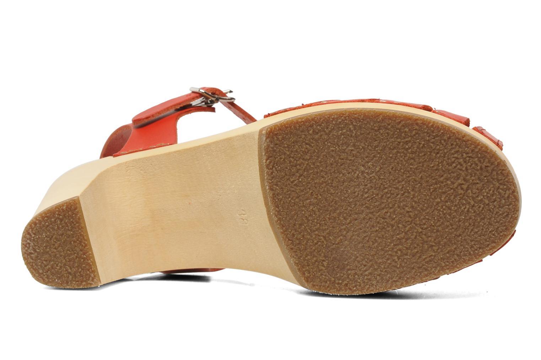 Sandales et nu-pieds Swedish Hasbeens Fredrica Rouge vue haut