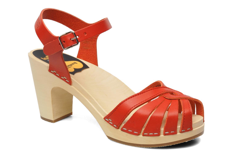 Sandales et nu-pieds Swedish Hasbeens Fredrica Rouge vue détail/paire
