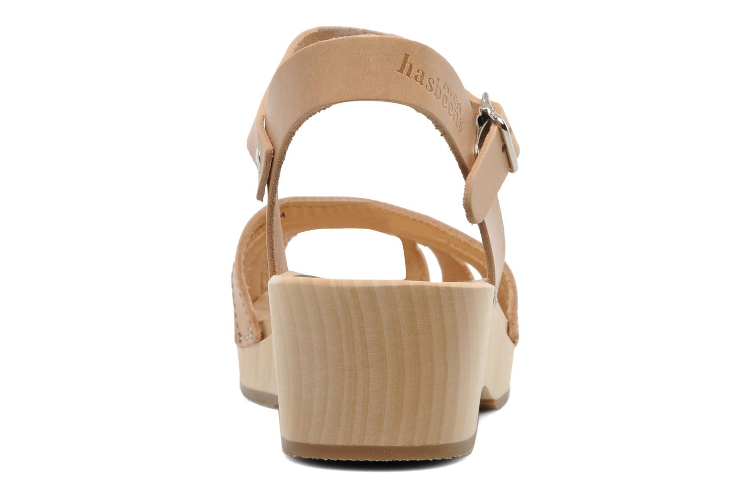 Sandals Swedish Hasbeens Cross Strap Debutant Beige view from the right