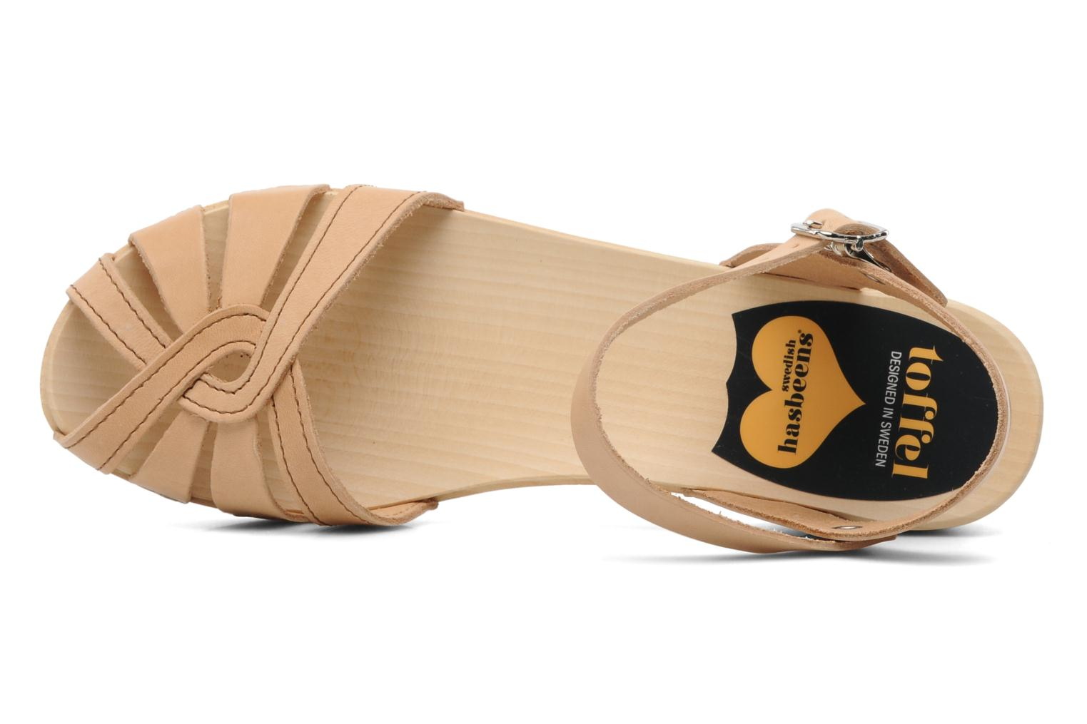 Sandals Swedish Hasbeens Cross Strap Debutant Beige view from the left