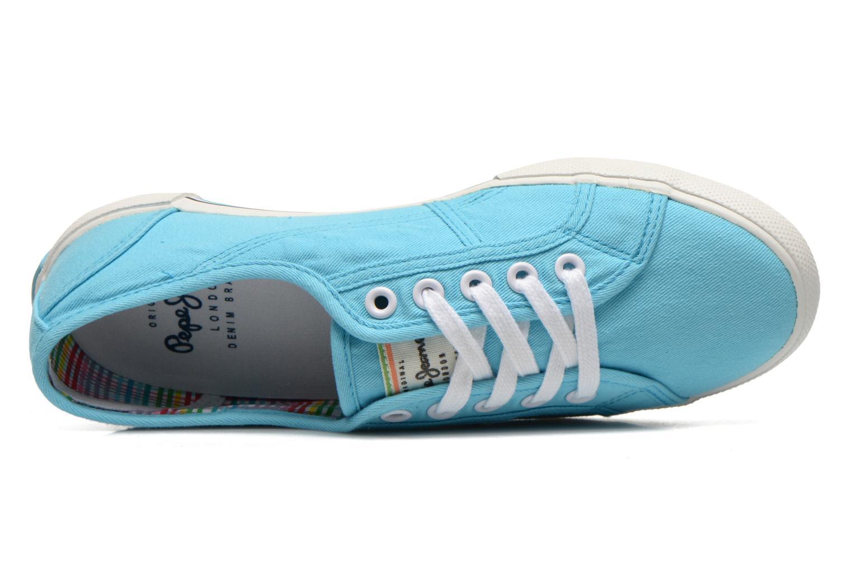 Sneakers Pepe jeans Aberlady Blauw links