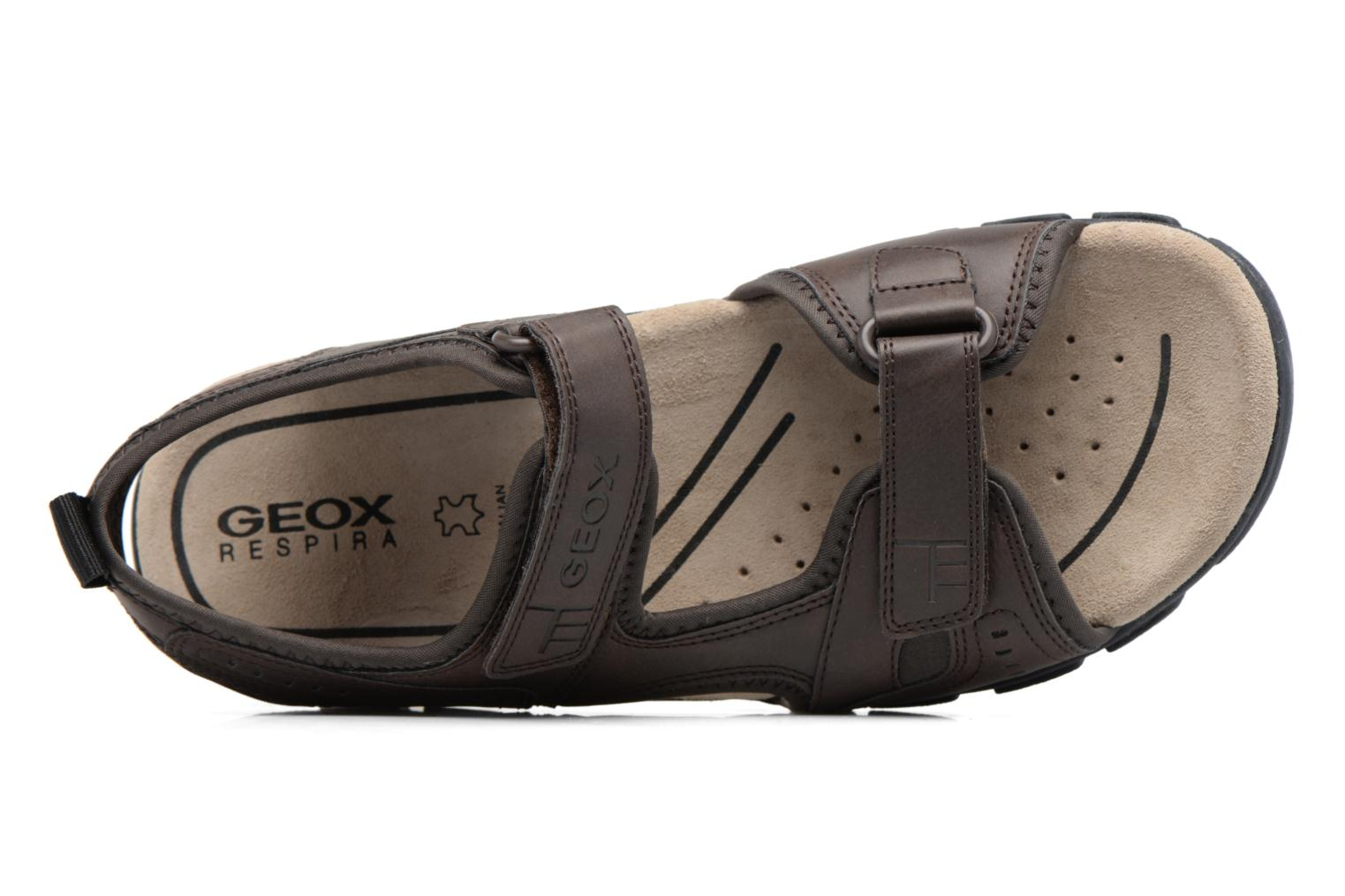 Sandals Geox U S.STRADA A U4224A Brown view from the left