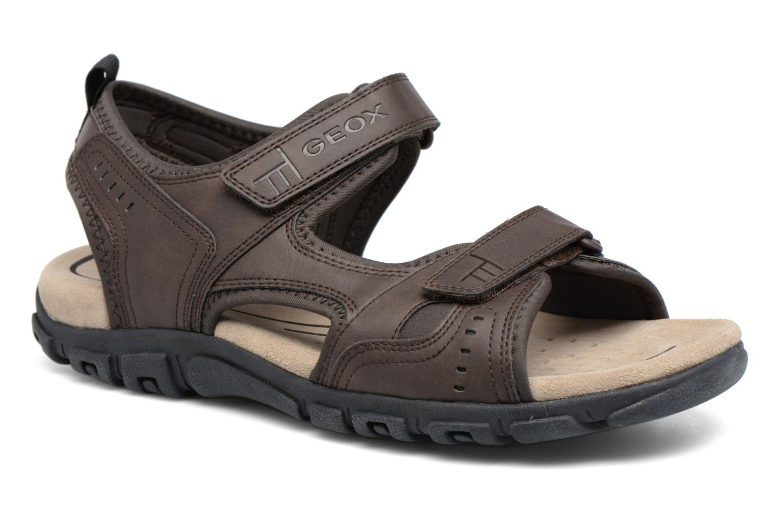 Sandals Geox U S.STRADA A U4224A Brown detailed view/ Pair view