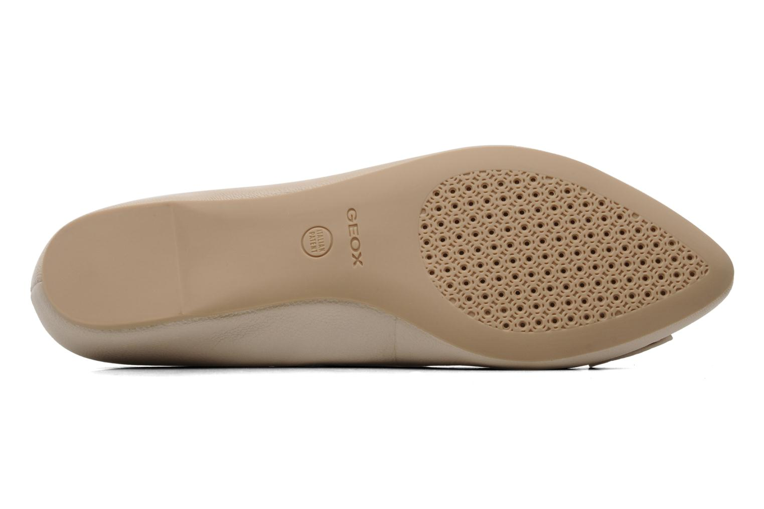Ballet pumps Geox D Leslie B Beige view from above