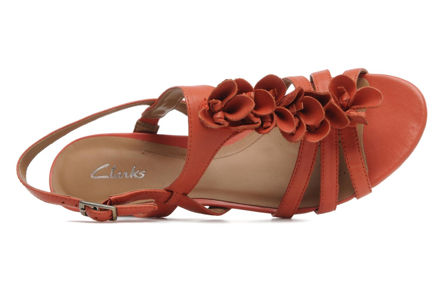 Sandalen Clarks Playful Gift Oranje links