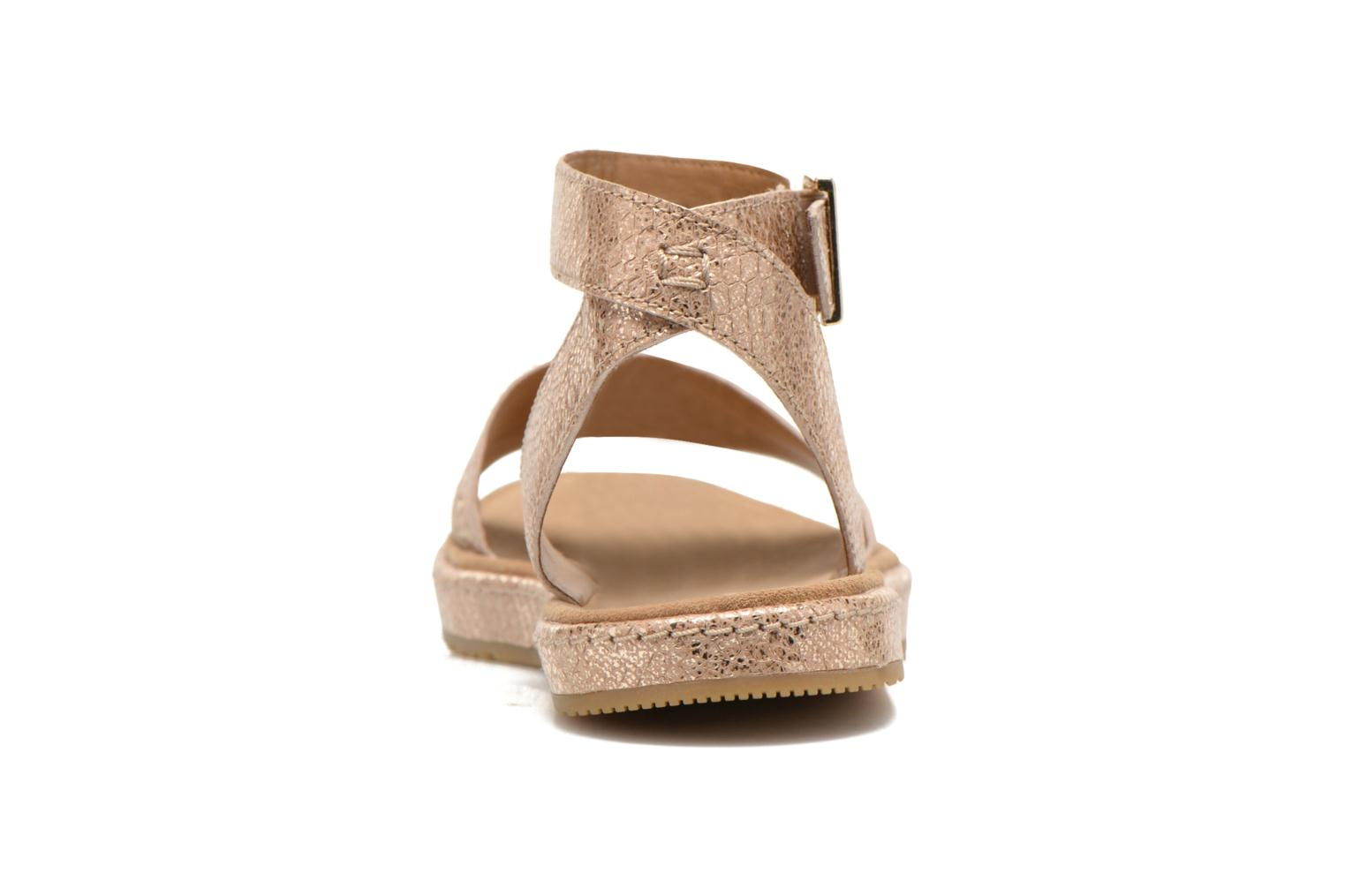 Sandals Clarks Romantic Moon Bronze and Gold view from the right