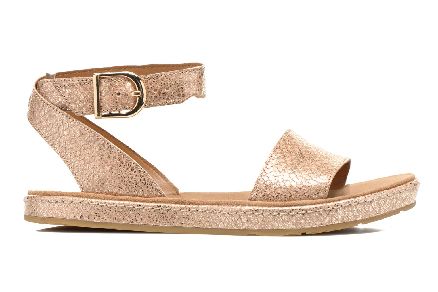 Sandals Clarks Romantic Moon Bronze and Gold back view