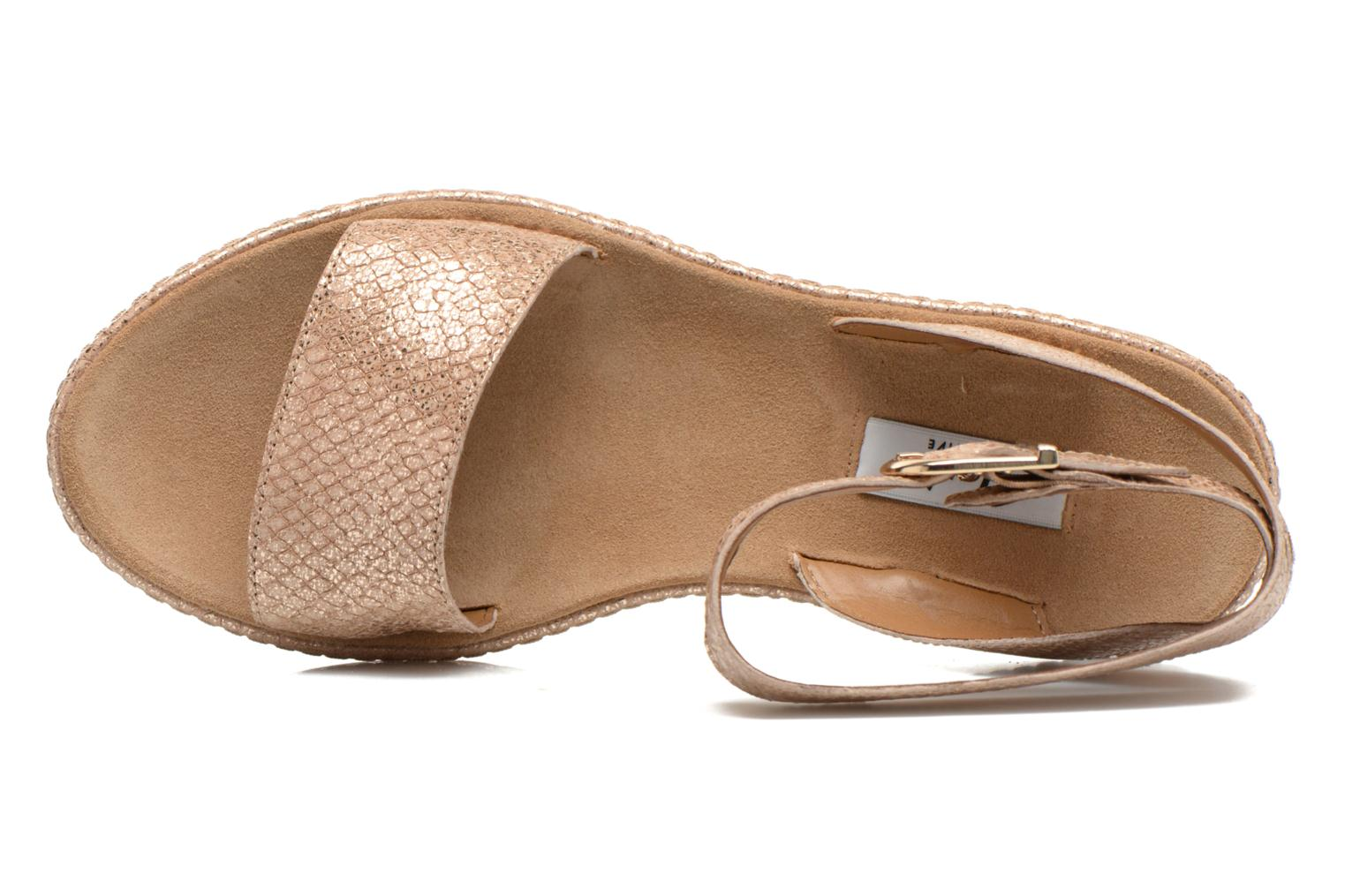 Sandals Clarks Romantic Moon Bronze and Gold view from the left