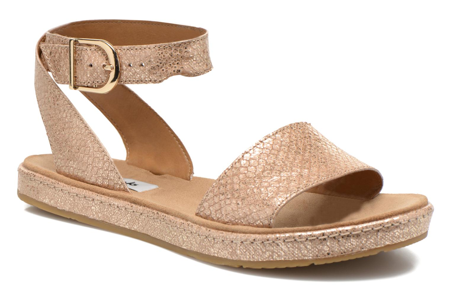 Sandals Clarks Romantic Moon Bronze and Gold detailed view/ Pair view