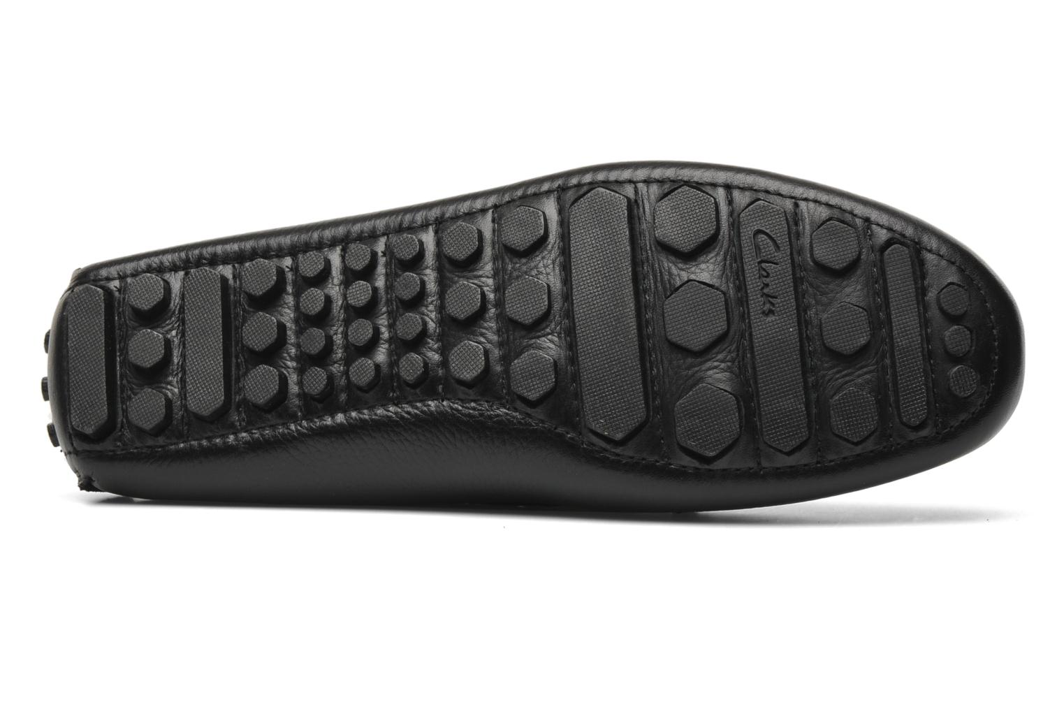 Mocassins Clarks Ramp Speed Noir vue haut