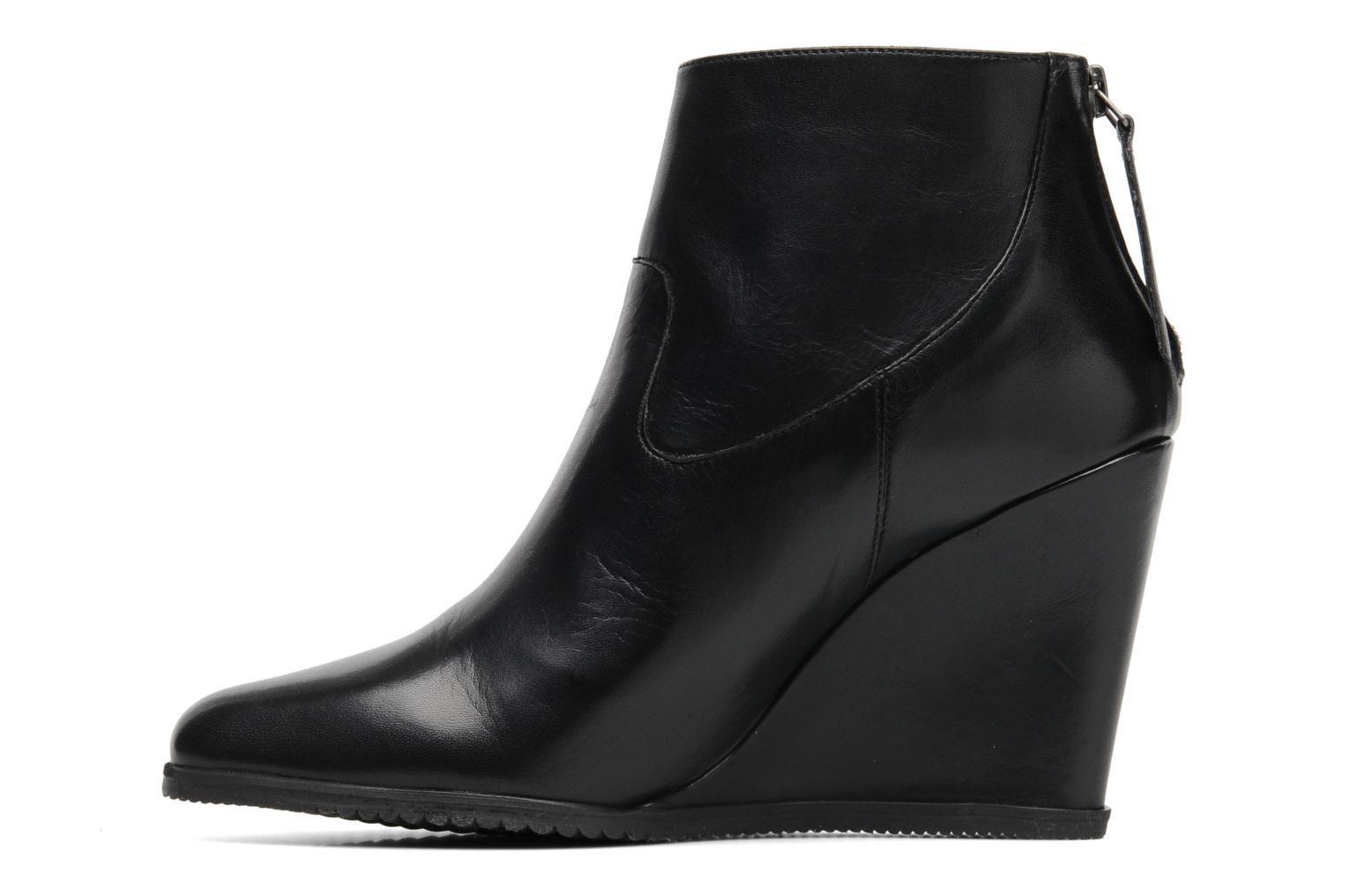 Ankle boots Georgia Rose Tablier Black front view