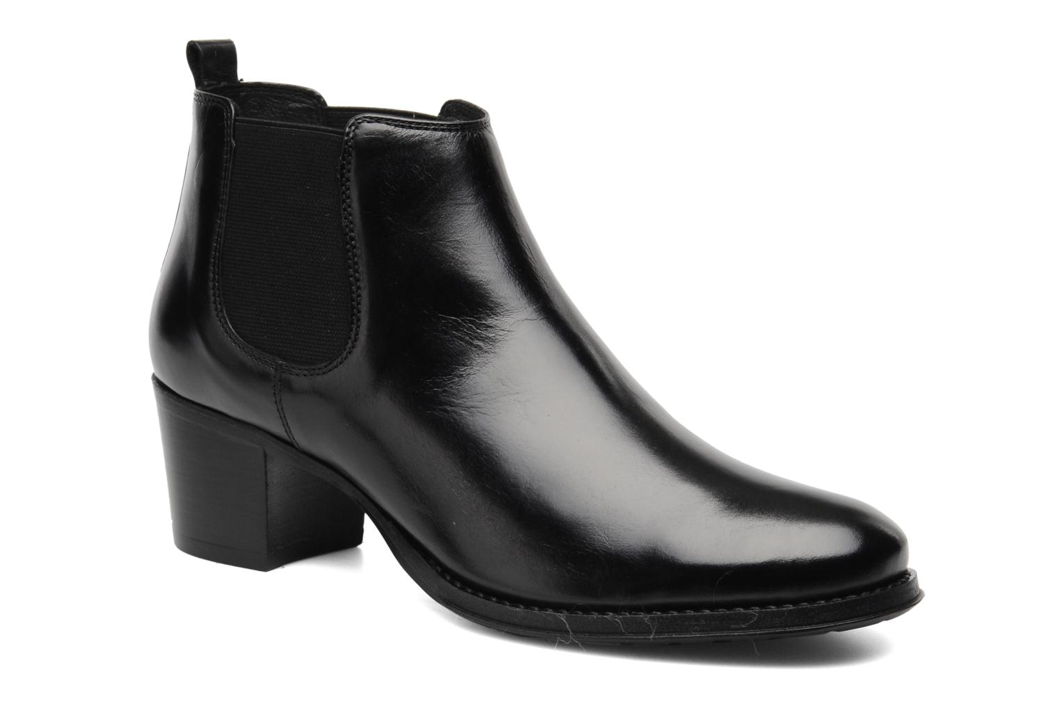 Ankle boots Georgia Rose Tabou Black detailed view/ Pair view