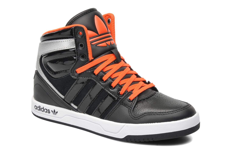 adidas court attitude zwarte hoge sneakers