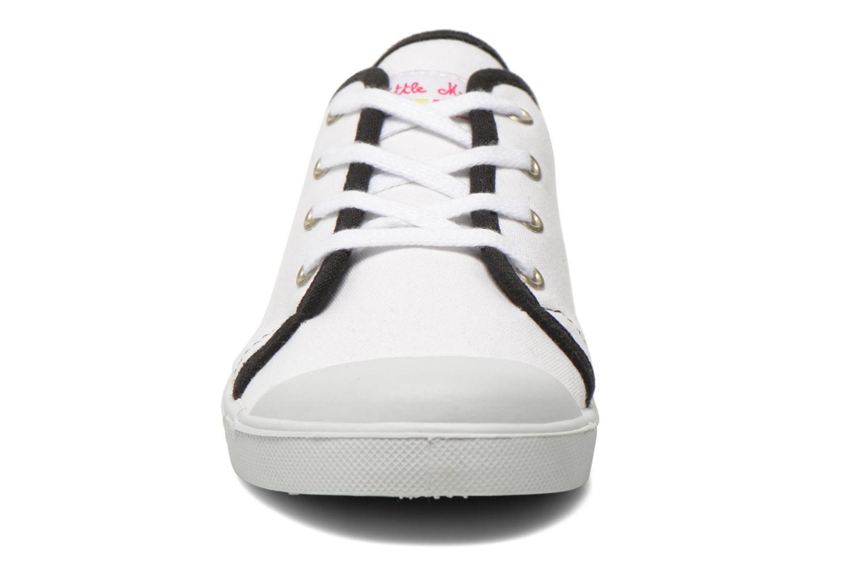 Baskets Little Marcel SANLAS UNI J Blanc vue portées chaussures