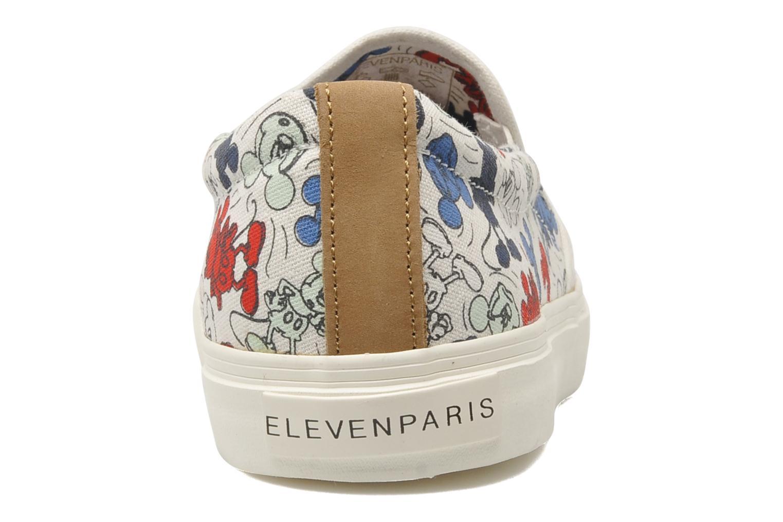 Baskets Eleven paris Tennis Slip On H Multicolore vue droite