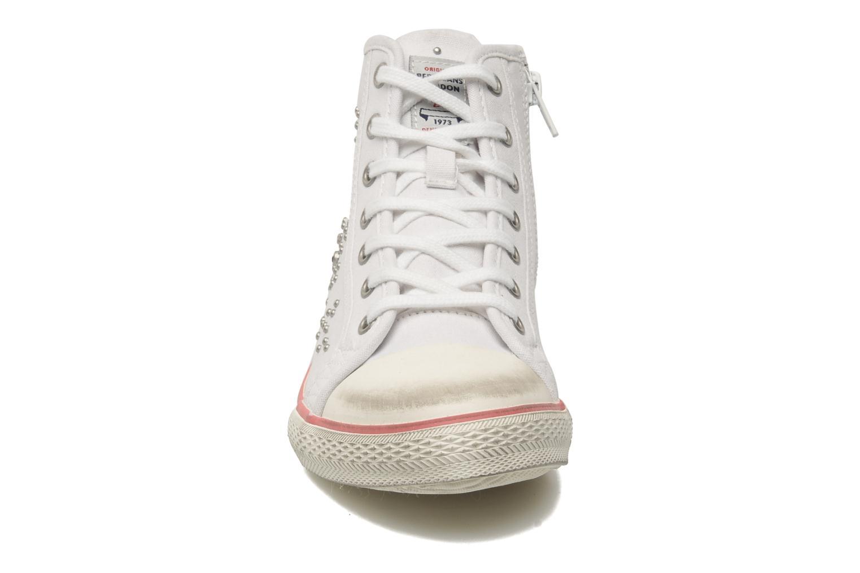 Baskets Pepe jeans DUBSTEP Blanc vue portées chaussures