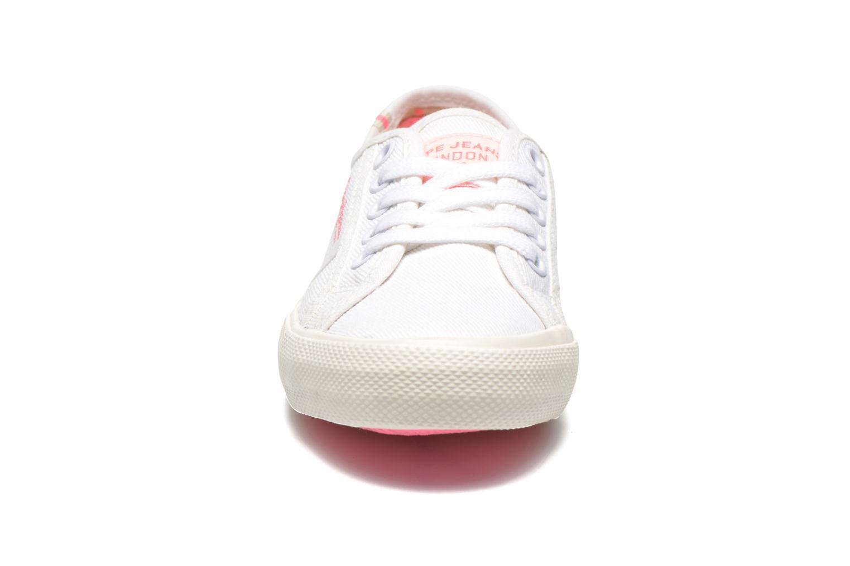 Baskets Pepe jeans BAKER Blanc vue portées chaussures