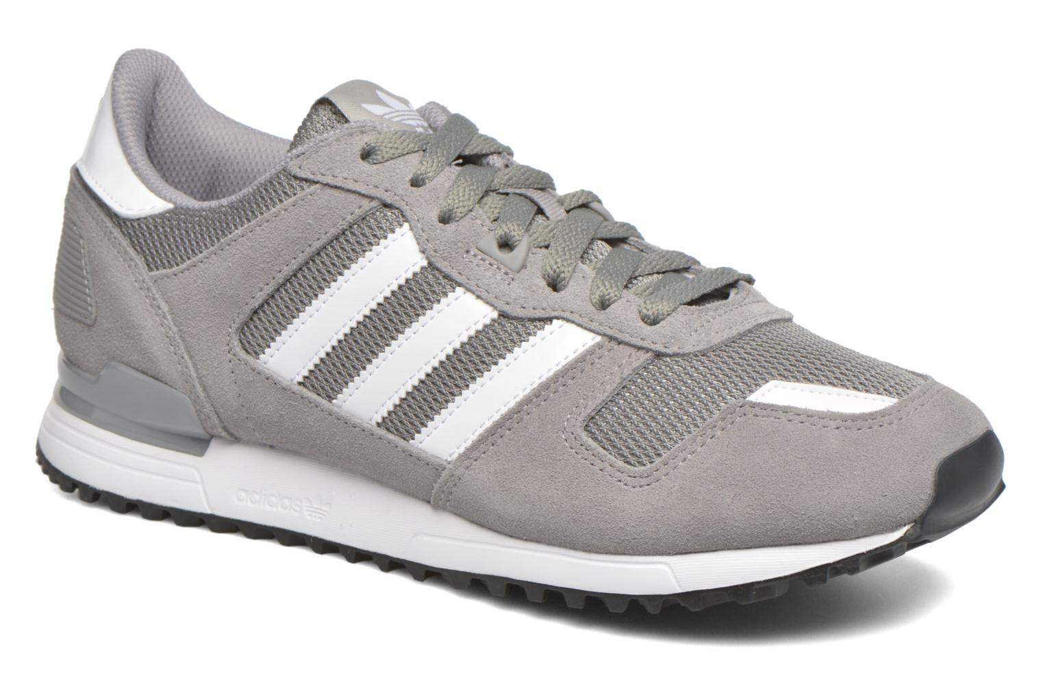Baskets Adidas Originals Zx 700 Gris vue détail/paire