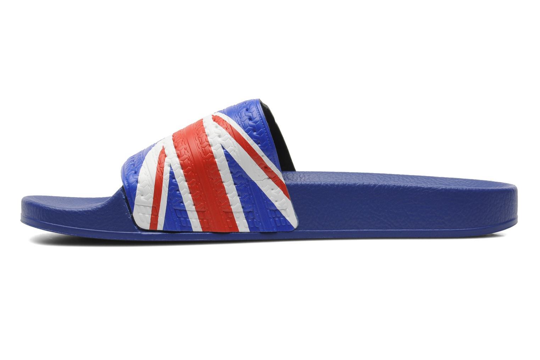 Sandales et nu-pieds Adidas Originals Adilette Flags Bleu vue face