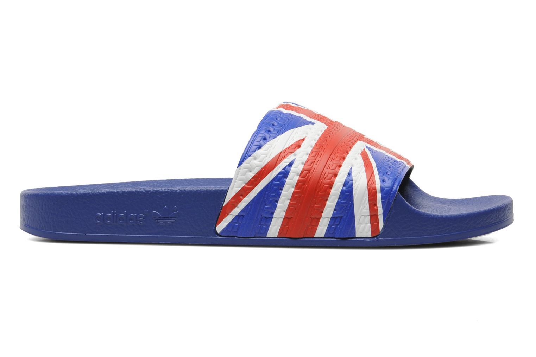 Sandales et nu-pieds Adidas Originals Adilette Flags Bleu vue derrière