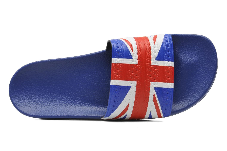 Sandales et nu-pieds Adidas Originals Adilette Flags Bleu vue gauche