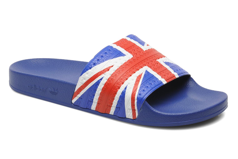 Sandales et nu-pieds Adidas Originals Adilette Flags Bleu vue détail/paire