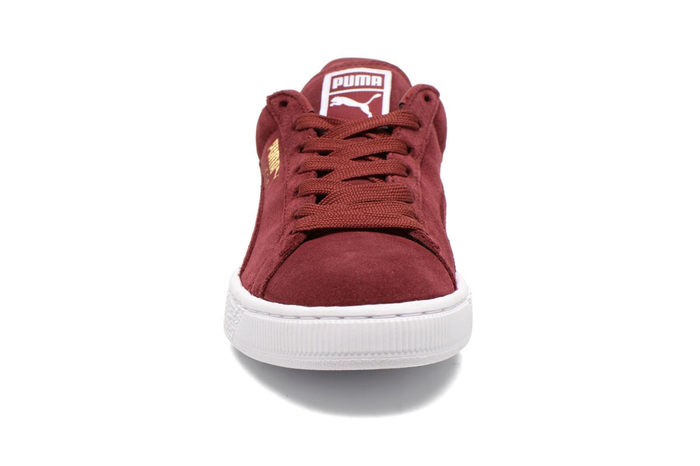 Baskets Puma Suede Classic+ Bordeaux vue portées chaussures