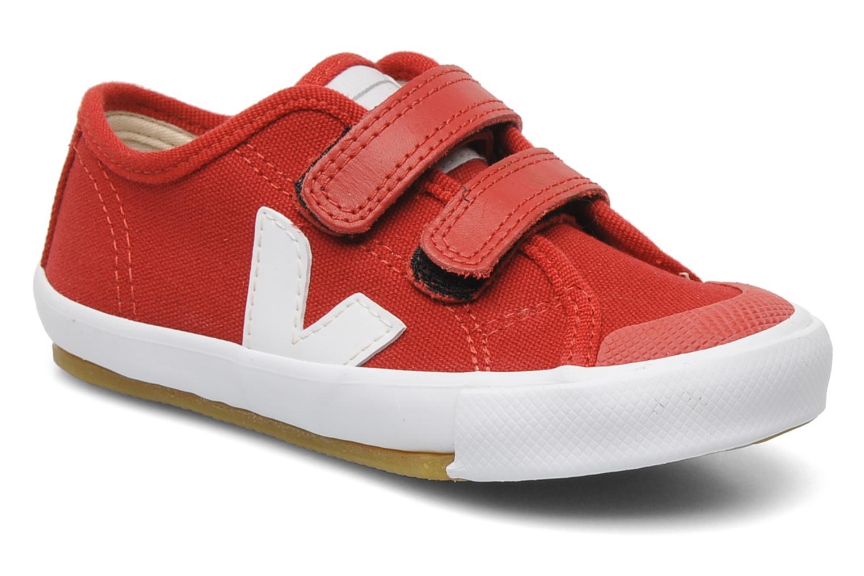 Baskets Veja GURIS VELCRO KIDS Rouge vue détail/paire