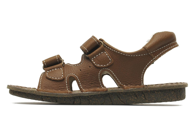 Sandales et nu-pieds El Naturalista KIRI E264 Marron vue face
