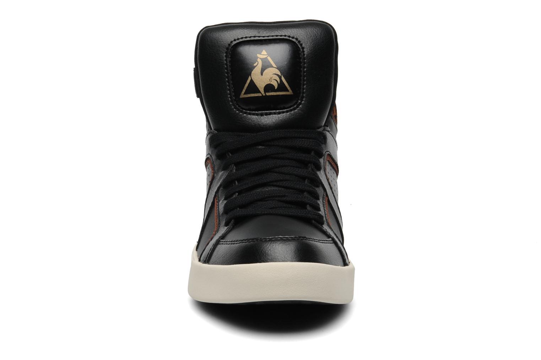 Baskets Le Coq Sportif Emeraude Leopard Noir vue portées chaussures