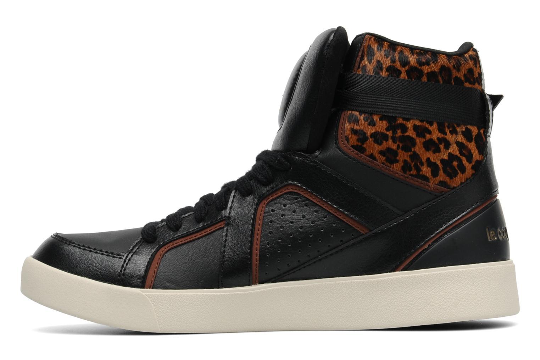 Baskets Le Coq Sportif Emeraude Leopard Noir vue face