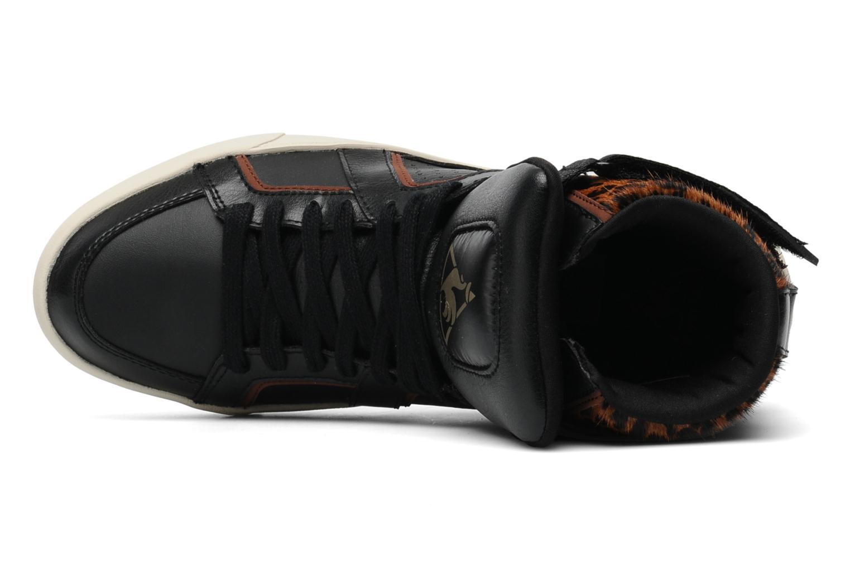 Baskets Le Coq Sportif Emeraude Leopard Noir vue gauche