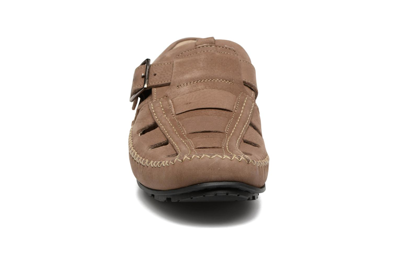 Mocassins TBS Easy Walk Seopol Beige vue portées chaussures