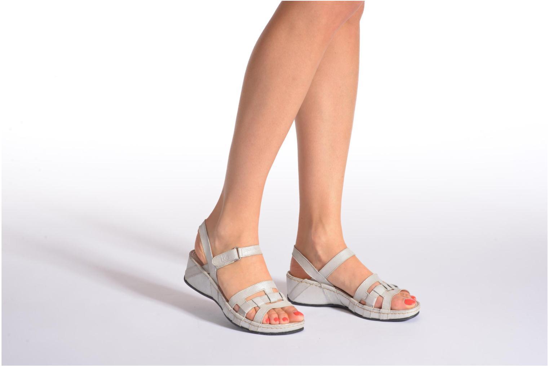 Sandales et nu-pieds TBS Easy Walk Vladia Rouge vue bas / vue portée sac