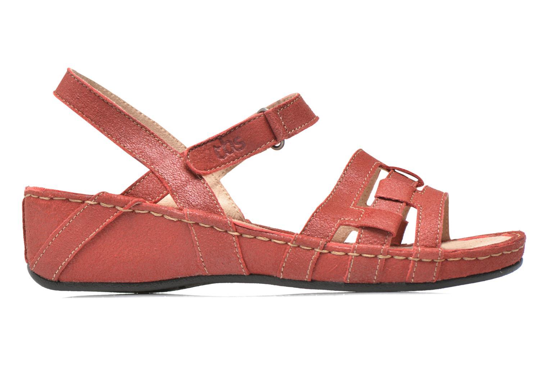 Sandales et nu-pieds TBS Easy Walk Vladia Rouge vue derrière