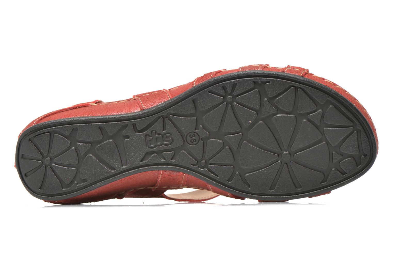 Sandales et nu-pieds TBS Easy Walk Vladia Rouge vue haut