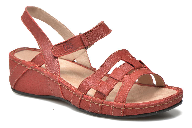Sandales et nu-pieds TBS Easy Walk Vladia Rouge vue détail/paire