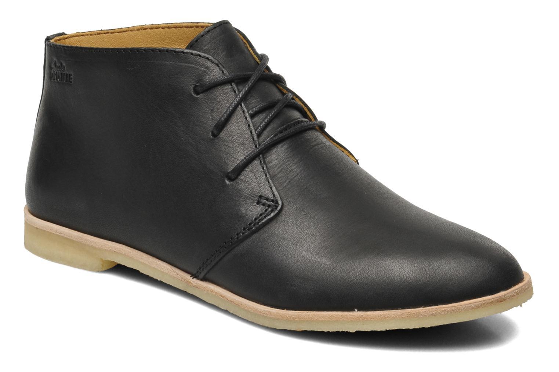 Clarks Phenia Desert - zapatos con cordones de cuero mujer, Black nubuck, 38