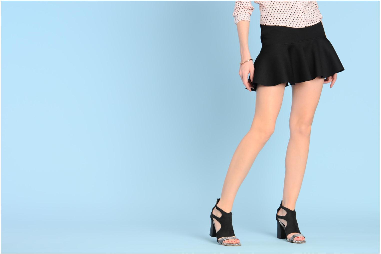 Sandales et nu-pieds Serafini Cruz Noir vue bas / vue portée sac