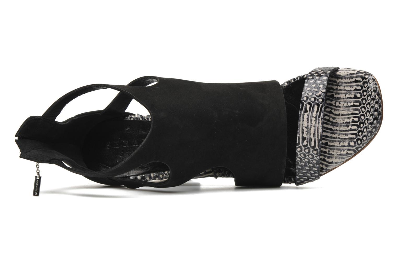 Sandales et nu-pieds Serafini Cruz Noir vue gauche